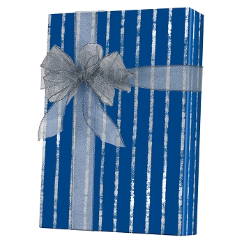 Bands of Silver Gift Wrap
