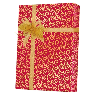 Scrolled Hearts Gift Wrap