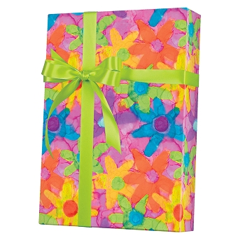 Flower Power Gift Wrap