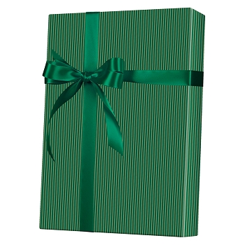 Gold & Green Stripe Gift Wrap
