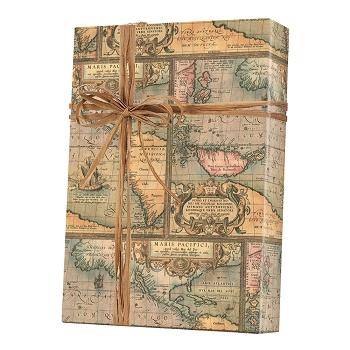 Old World Map Gift Wrap