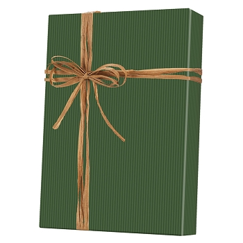 Dark Green Stripe Kraft Gift Wrap