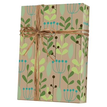 Leaves and Berries Gift Wrap