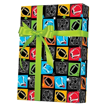 Sports Fanatic Gift Wrap