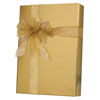 Gold Metallic Foil Gift Wrap