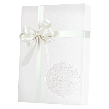 White Grain Embossed Gift Wrap
