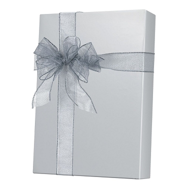 Ultra Gloss Silver Gift Wrap