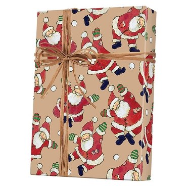 Santa Celebration Kraft Gift Wrap