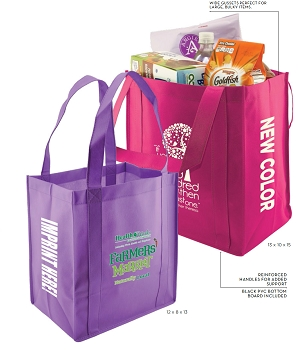 Grocery Reusable Totes  - 100 GSM Non-Woven Polypropylene