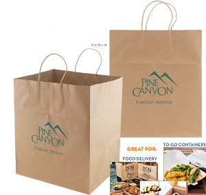 Take - Out - Natural Kraft Shopping Bag