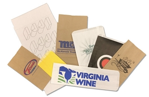 Paper Merchandise Bags  White or Natural Kraft  -   1 Color 1 Side Imprint Included