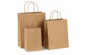SUPER SALE  *** Natural Kraft Shopping Bags - 50% Recycled Fiber