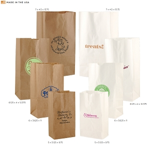 Paper SOS Bags - White or Natural Kraft