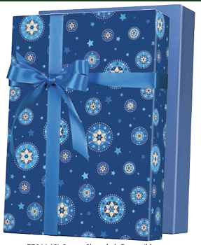 Starry Chanukah Reversible Gift Wrap