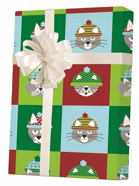 NEW ! - Grumpy Cats Wearing Hats Gift Wrap