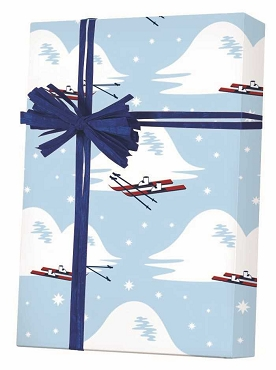 New ! - Slopes & Skis Gift Wrap