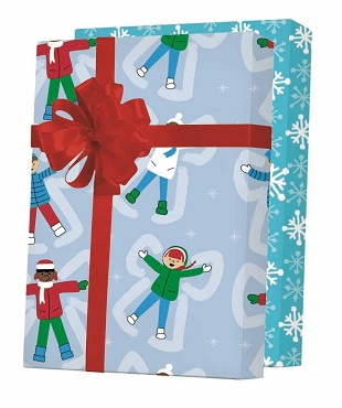 New ! - Snow Angels Reversible Gift Wrap