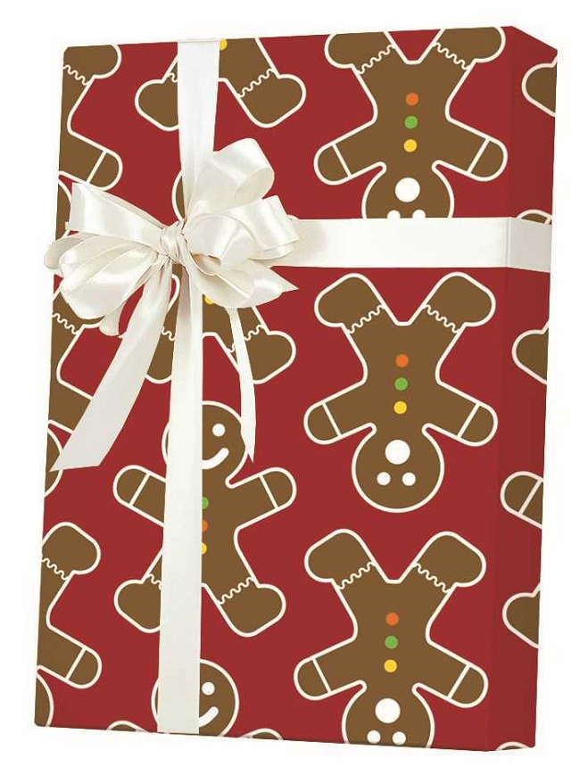 New ! Gingerbread Men Gift Wrap