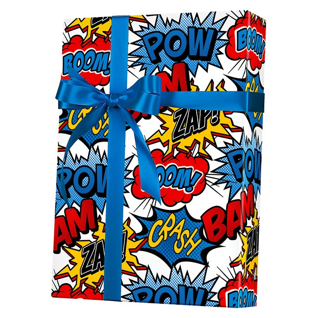 Super Hero Gift Wrap