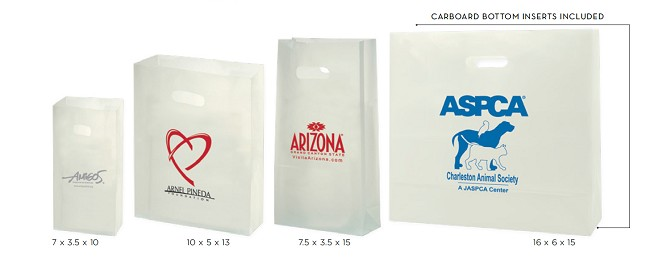 CLEAR FROSTED DIE CUT TOTES